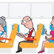 É perigoso usar o celular durante o voo?